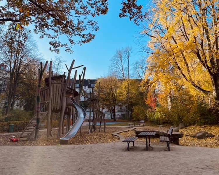Ausflug, Spielplatz, Herbst