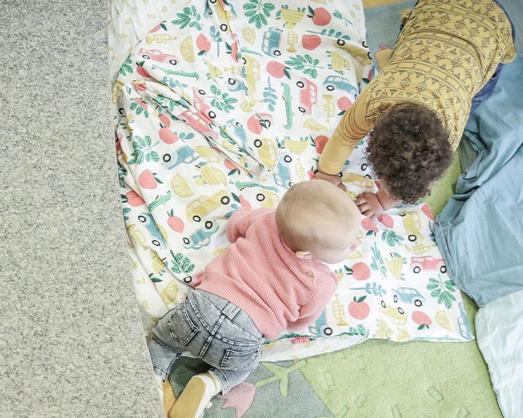 Kleine haben Ruhezonen