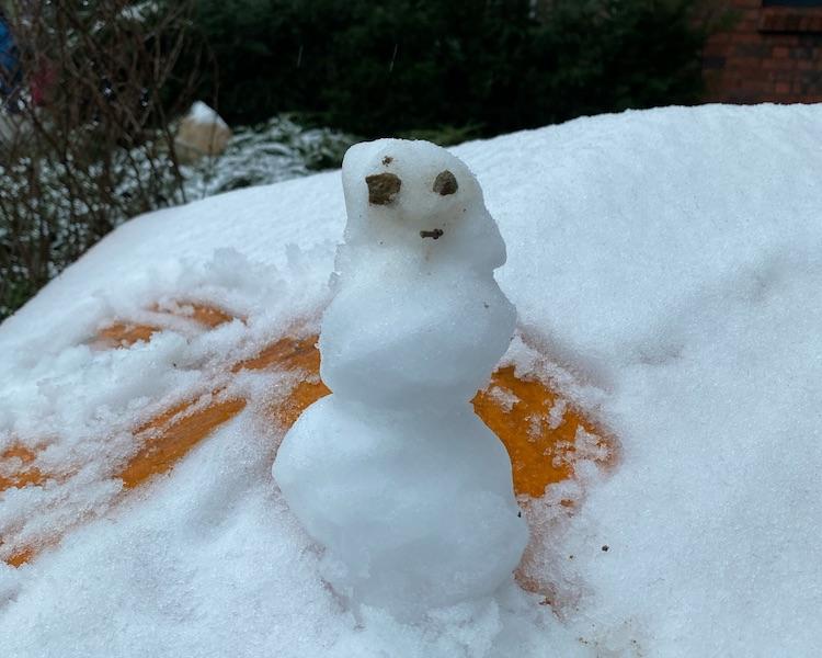 Schneemännchen, Schnee, Winter