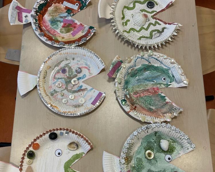 Fische, basteln, Kreativität
